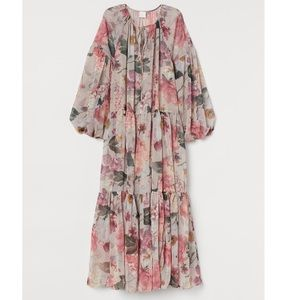 (New with tag) H&M Floral Chiffon Maxi Dress